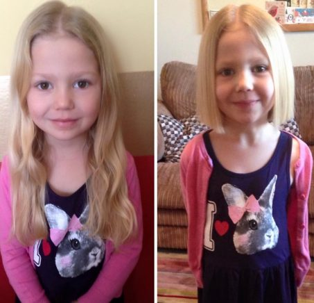 Girl who wants to be like Rapunzel, donates her hair to kids with cancer.